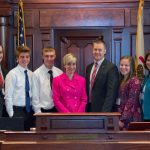 RECC students and chaperons met with State Senators and Representatives during the Youth Day program.