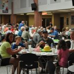Over 500 members and guests enjoyed a pork chop dinner in the Glenwood High School cafeteria.