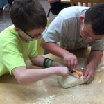 Morrisonville Grade School students used the Digging For Dinos kits to learn about fossils.